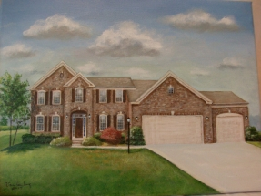 Hand painted canvas of your home